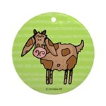 Goat IV Ornament (Round)
