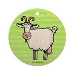 Goat III Ornament (Round)