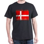 Denmark Danish Flag Black T-Shirt