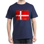 Denmark Danish Flag Navy Blue T-Shirt