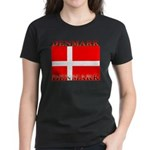 Denmark Danish Flag Women's Black T-Shirt