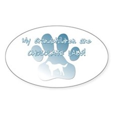 Chocolate Lab Grandchildren Oval Decal