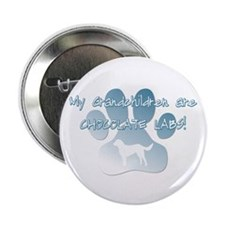 "Chocolate Lab Grandchildren 2.25"" Button (10 pack)"