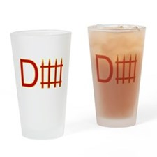 Defense red yellow Drinking Glass