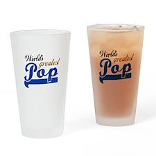 Worlds Greatest Pop Drinking Glass