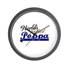 Worlds Greatest Poppa Wall Clock