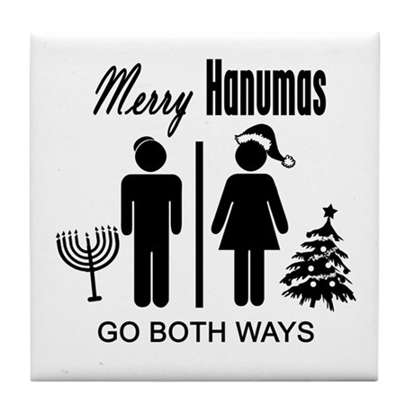 Go Both Ways Tile Coaster