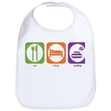 Eat Sleep Curling Bib