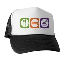 Eat Sleep Curling Trucker Hat