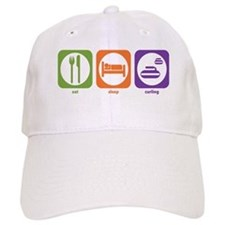 Eat Sleep Curling Baseball Cap