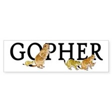 GOPHER Bumper Bumper Sticker