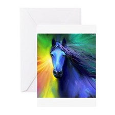 Fresian horse 1 Greeting Cards (Pk of 10)