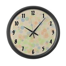 Pastel Dots Large Wall Clock
