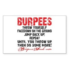 THE BURPEE - WHITE Decal