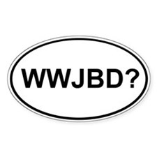 WWJBD Oval Decal