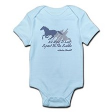 No hour is lost in the saddle Infant Bodysuit
