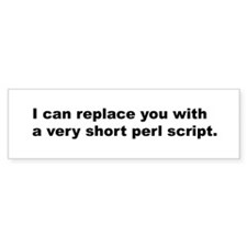 Perl Replace Bumper Bumper Sticker