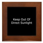 Keep Out of Direct Sunlight Framed Tile