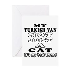 Turkish Van Cat Designs Greeting Card