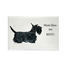 Mom's Scottish Terrier Rectangle Magnet