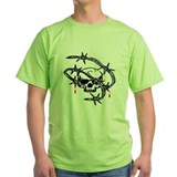 barbwire skull T-Shirt