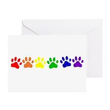 Rainbow Paws Greeting Cards (Pk of 10)