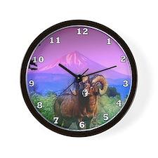 Big Horn Mount McLoughlin Wall Clock