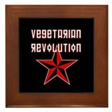 Vegetarian Revolution Framed Tile