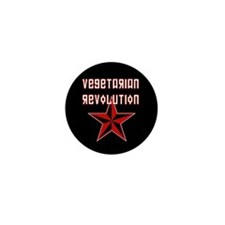 Vegetarian Revolution Mini Button
