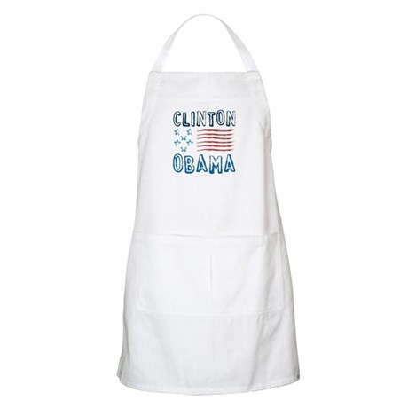 Clinton Obama Distressed BBQ Apron