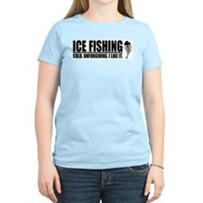 ICE FISHING Women's Pink T-Shirt