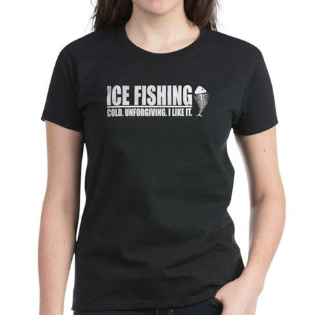 ICE FISHING Women's Dark T-Shirt
