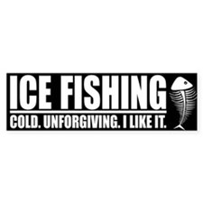ICE FISHING Bumper Bumper Sticker