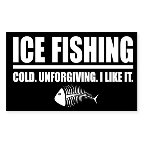 ICE FISHING Rectangle Sticker