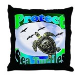 Protect Sea Turtles gifts Throw Pillow