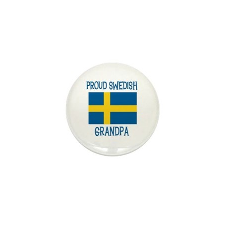 Proud Swedish Grandpa Mini Button (10 pack)