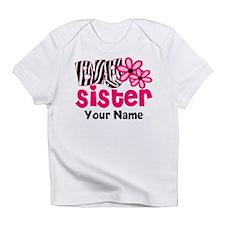 Big Sister Zebra floral Infant T-Shirt