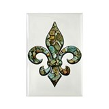 New Orleans Rocks Fleur Rectangle Magnet (10 pack)