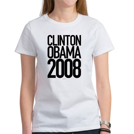 Clinton Obama 2008 Womens T-Shirt