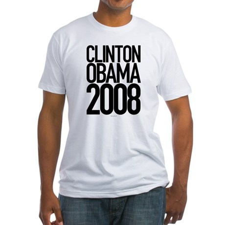 Clinton Obama 2008 Fitted T-Shirt