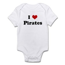 I Love Pirates Infant Bodysuit