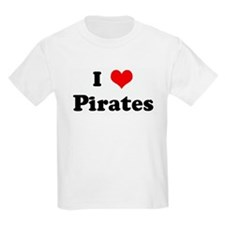 I Love Pirates Kids T-Shirt