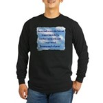 Serenity Slogan (clouds) Long Sleeve Dark T-Shirt