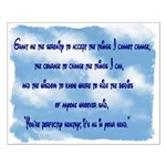 Serenity Slogan (clouds) Small Poster