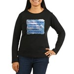 Serenity Slogan (clouds) Women's Long Sleeve Dark