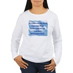 Serenity Slogan (clouds) Women's Long Sleeve T-Sh