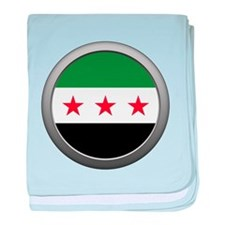 Round Syrian National Coalition Flag Infant Blanke