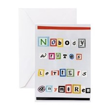 Nobody writes letters anymore. Greeting Card