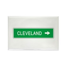 Roadmarker Cleveland (OH) Rectangle Magnet