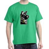 Black Green Guitar T-Shirt
